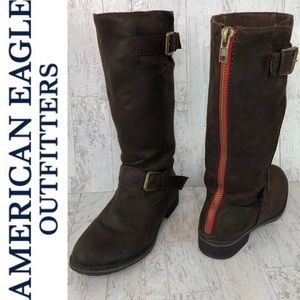 American Eagle Outfitters Faux Suede Boots Size 8